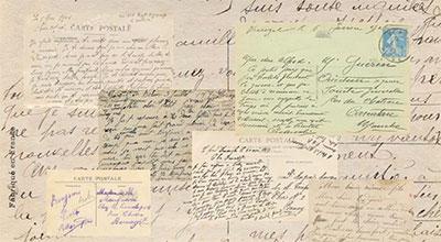 Les cartes postales, correspondance en temps de guerre